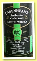 Benrinnes 12 yo 1988/2000 (58.5%, Cadenhead, Authentic Collection, bourbon hogshead, 294 bottles)