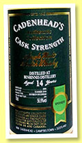 Benrinnes 14 yo 2004/2018 (56.9%, Cadenhead, Authentic Collection, bourbon hogshead, 294 bottles)