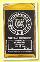 Benrinnes 18 yo 2000/2019 (57.5%, Cadenhead, Small Batch, 546 bottles)