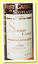Benrinnes 1996/2009 (43%, Jean Boyer, Best Casks of Scotland, sherry casks)