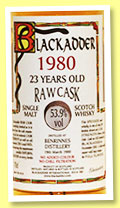 Benrinnes 23 yo 1980/2003 (53.9%, Blackadder, Raw Cask, cask #1352, 264 bottles)
