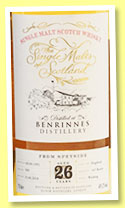 Benrinnes 26 yo 1991/2018 (49.2%, The Single Malts of Scotland, cask #509, 165 bottles)