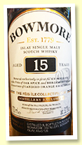 Bowmore 15 yo (51.7%, OB Feis Ile Collection 2019, first fill bourbon casks, 3000 bottles)