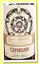 Clyne(cough)lish (cough) Reserve 'Game Of (cough) Thrones' (51.2%, OB (cough), 2019)