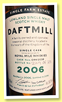 Daftmill 2006/2019 (56%, OB, Royal Mile Whiskies Exclusive, First fill ex-bourbon cask, cask #44, 216 bottles)