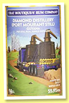 Diamond 9 yo (55.9%, That Boutique-y Rum Company, Guyana, batch 1, 461 bottles, +/-2018)