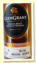 Glen Grant 19 yo 1999/2018 (49.8%, OB 'Distillery Only', cask #1, 94 bottles)