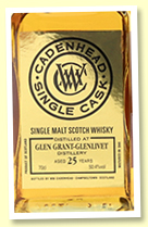 Glen Grant 25 yo 1992/2018 (50.4%, Cadenhead's Single Cask, bourbon barrel, 144 bottles)