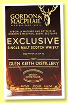 Glen Keith 1968/2018 (52.8%, Gordon & MacPhail for Whisky Warehouse, cask #7893, 42 bottles)