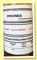 Glen Moray 10 yo 2007/2018 (46%, Orcines, cask 5444)