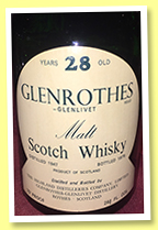 Glenrothes 28 yo 1947/1975 (75° proof, OB)