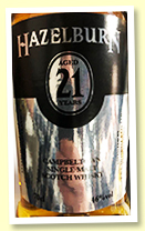 Hazelburn 21yo 1997/2019 (46%, OB for Campbeltown Malts Festival, refill sherry hogshead, 222 bottles)