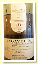 Lagavulin 19 yo (53.8%, OB Feis Ile 2019, sherry-treated American oak casks, 6000 bottles)