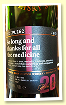 Laphroaig 20 yo 1998/2019 (55.6%, Scotch Malt Whisky Society, #29.262 'So long and thanks for all the medicine', 2nd fill barrel, 231 bottles)