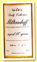 Miltonduff 10 yo 2008/2018 (59.7%, The Taste of Whisky, Daily Collection, first fill bourbon barrel, cask #700985, 158 bottles)