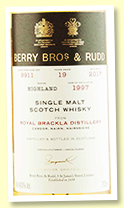 Royal Brackla 19 yo 1997/2017 (46%, Berry Brothers, cask #9911, hogshead)