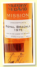 Royal Brackla 27yo 1975/2002 (46%, Murray McDavid 'Mission I', 600 bottles)
