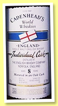 The English Whisky Co. 8 yo 2009/2018 (61.9%, Cadenhead, World Whiskies, bourbon hogshead, 228 bottles)