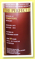 Tomintoul 39 yo 1972/2011 (45.7%, The Whisky Agency, Perfect Dram, bourbon, 112 bottles)