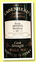 Ardbeg 21 yo 1975/1996 (50.1%, Cadenhead Authentic Collection, Sherrywood matured)