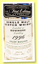 Bowmore 21 yo 1996/2017 (52.1%, The First Editions, 182 bottles)