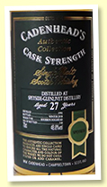 Speyside 27 year old 1991/2018 (48.8%, Cadenhead Authentic Collection, bourbon hogshead, 318 bottles)
