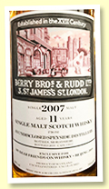 Undisclosed Speyside 11 yo 2007/2019 (60%, Berry Brothers for Whisky + Beijing 2019, cask #13917)