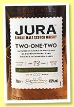 Jura 13 yo 2006/2019 'Two One Two' (47.5%, OB, Limited Edition, 6,000 bottles)