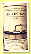 Laphroaig 7 yo 2011/2018 'Hand in Hand' (53.7%, Sansibar for Liquor Library, Helvetica Bar, Whisky and Alement and The Oak Barrel)