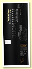 Octomore 3 yo 2016/2019 (63.5%, OB Edition 10.4, virgin heavily toasted French oak, 12000 bottles)