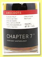 Anecdote 24 yo 'Small Batch' (47.9%, Chapter 7, blended malt, bourbon hogsheads, 424 bottles, 2020)