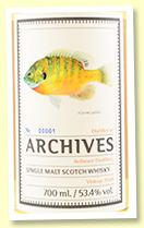Ardmore 9yo 2009/2019 (53.4%, Archives 'The Fishes of Samoa', cask #706473, refill barrel, 234 bottles)
