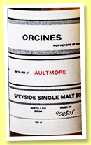 Aultmore 9 yo 2008/2018 (46%, Orcines, sherry butt, cask #900305, 697 bottles)