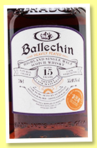 Ballechin 15 yo 2003/2019 (55%, The Whisky Exchange, refill sherry butt, cask #204, 482 bottles)