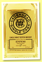 Bowmore 17 yo 2002/2019 (53.6%, Cadenhead, Single Cask, bourbon hogshead, 294 bottles)