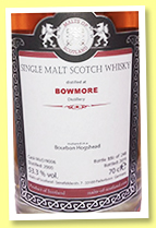 Bowmore 2000/2019 (53.3%, Malts of Scotland, bourbon hogshead, cask #MoS 19006, 248 bottles)