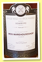 Bowmore 2001/2019 (49.2%, Malts of Scotland, Warehouse shop, sherry hogshead, cask #MoS 19021, 139 bottles)
