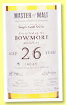 Bowmore 26 yo 1982/2009 (53.4%, Master of Malt, refill sherry hogshead, 195 bottles)