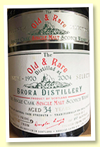 Brora 34 yo 1970/2004 (56.9%, Douglas Laing 'Platinum Selection', 157 bottles)