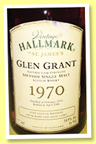 Glen Grant 1970/2000 (54.9%, Vintage Hallmark of St. James)