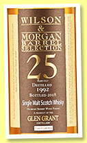 Glen Grant 25 yo 1992/2018 (51%, Wilson & Morgan, oloroso finish, cask #130818/9, 405 bottles)