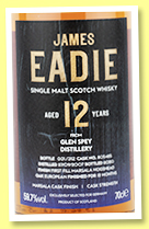 Glen Spey 12 yo 2007/2020 (59.7%, James Eadie for Germany, Marsala finish, cask #805425, 312 bottles)