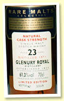 Glenury Royal 23 yo 1971/1995 (61.3%, OB 'Rare Malts', sherry)