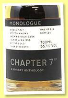 Jura 21 yo 1998/2020 (55.7%, Chapter 7, Monologue, bourbon hogshead, cask #2144, 284 bottles)
