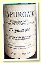 Laphroaig 10 yo (43%, OB, Vinalda import for Portugal, -/+ 1980)