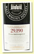Laphroaig 17 yo 1999/2016 (58.1%, Scotch Malt Whisky Society, #29.190 'Divine dark temptation', refill sherry butt, 582 bottles)