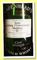 Ledaig (Tobermory) 22 yo 1973/1996 (44.2%, Cadenhead, Authentic Collection)