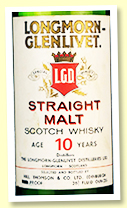 Longmorn-Glenlivet 10 yo 'Straight Malt' (???%, OB 'Hill Thompson & Co Ltd', -/+1970)