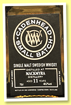 Mackmyra 11 yo 2007/2019 (48.2%, Cadenhead, Small Batch, barrel)