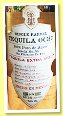 Ocho 3 yo 2008/2012-2016 'Extra Anejo' (53.2%, OB, Las Altena, single barrel, for La Maison du Whisky 60th Anniversary)